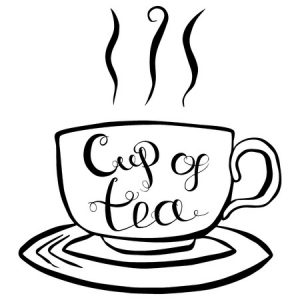 52937263 - cup of tea brush lettering. vector illustration