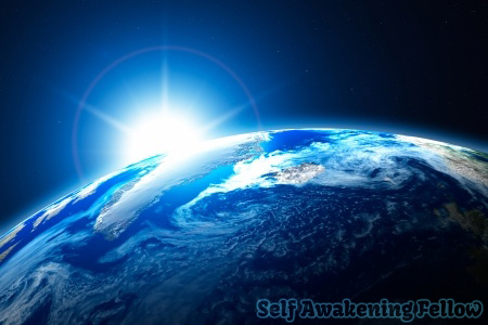10494640 - northern area of the earth, the arctic, with sun background